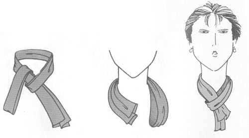 узлы шарфов фото