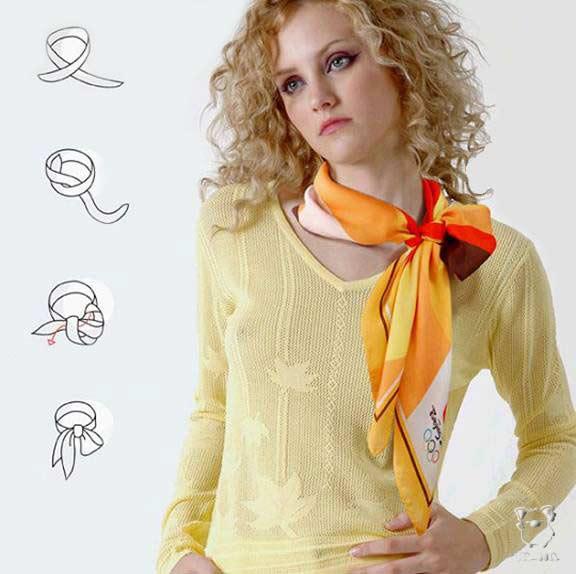 Как повязать большой шарф